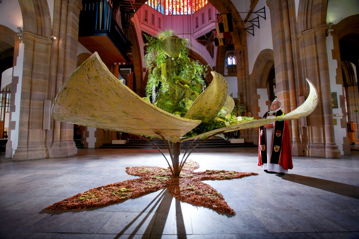 Picture: Copyright Lorne Campbell / Guzelian One of the exhibits in the four-day flower festival in Blackburn Cathedral Flower Festival, Blackburn